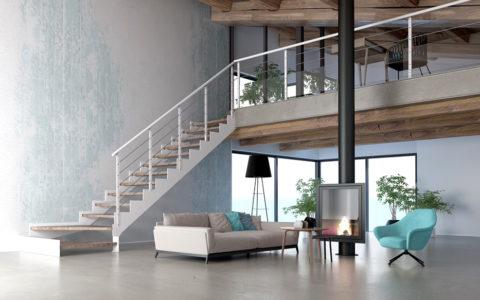 escalier moderne avignon