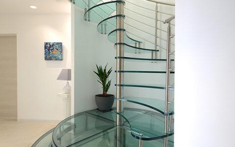 escalier verre fabricant avignon